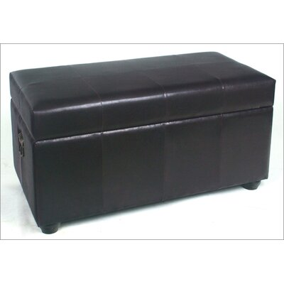 International Caravan Faux Leather Bedroom Storage Trunk/Bench - Color: Black at Sears.com