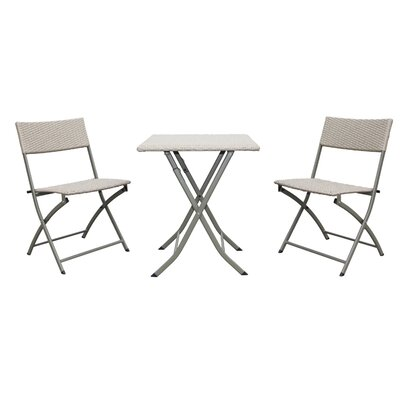 Catalina 3 Piece Bistro Set Finish: Antique White