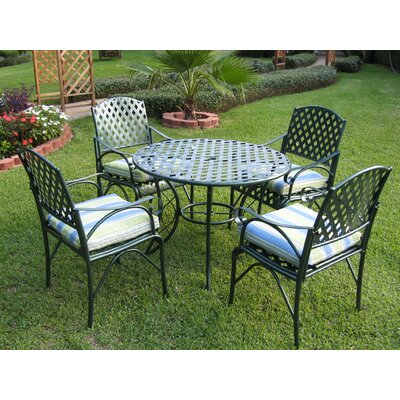 Wrought Iron Patio  on International Caravan Iron Patio 5 Piece Dining Set   Wayfair