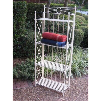 "Artica 4-Tier Iron IndoorOutdoor Bakers Rack Size: 59"" H x 22"" W"