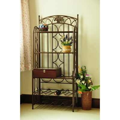 Charleston 5-Tier Iron IndoorOutdoor Bakers Rack Finish: Bronze