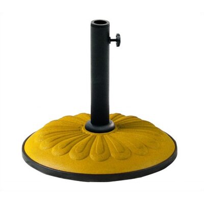 Cast Iron Free Standing Umbrella Base Color: Yellow