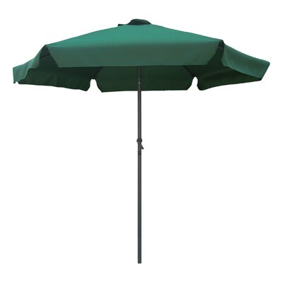 8 St. Kitts Drape Umbrella Fabric: Forest Green