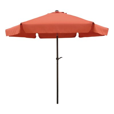 8 St. Kitts Drape Umbrella Fabric: Terra Cotta