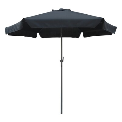 8 St. Kitts Drape Umbrella Fabric: Black