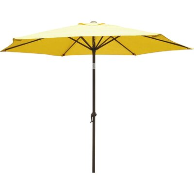 8 St. Kitts Umbrella Stands Market Umbrella Fabric: Yellow
