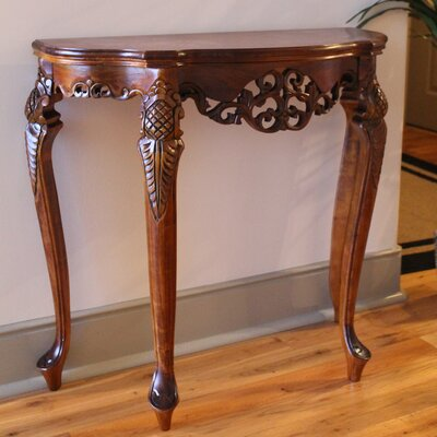 Windsor Hand Carved Wood Indoor Console Table