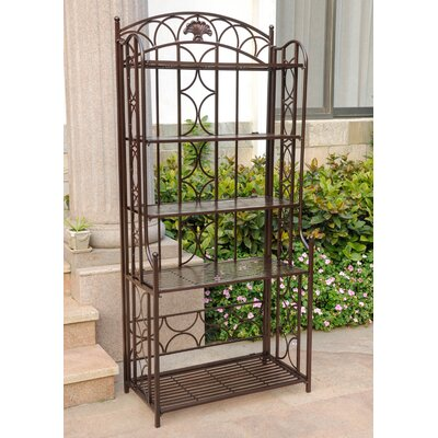 Charleston 5 Tier Indoor/Outdoor Bakers Rack Finish: Bronze