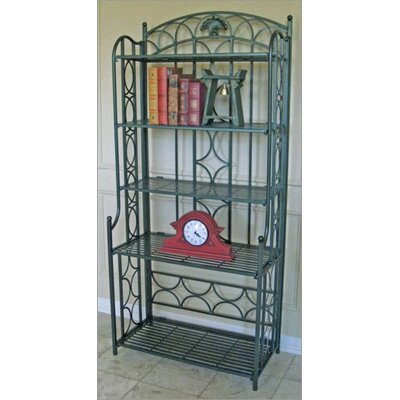 Charleston 5 Tier Indoor/Outdoor Bakers Rack Finish: Verti Gris