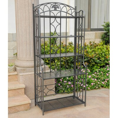 Charleston 5 Tier Indoor/Outdoor Bakers Rack Finish: Pewter