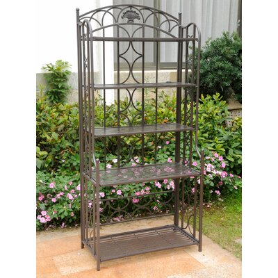 Charleston 5 Tier Indoor/Outdoor Bakers Rack Finish: Matte Brown