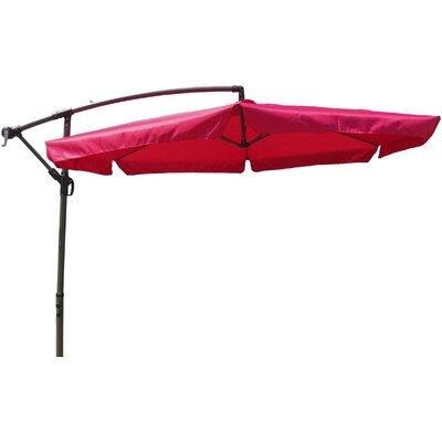 10 Cantilever Umbrella Fabric: Cranberry