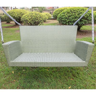 Barnet Contemporary Resin Wicker Porch Swing Finish: Antique Moss