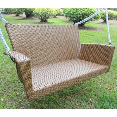 Barnet Contemporary Resin Wicker Porch Swing Finish: Mocha