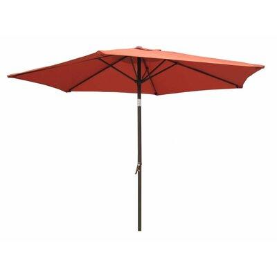 International Caravan St. Kitts 8-Foot Aluminum Patio Umbrella and Crank - Fabric: Black at Sears.com