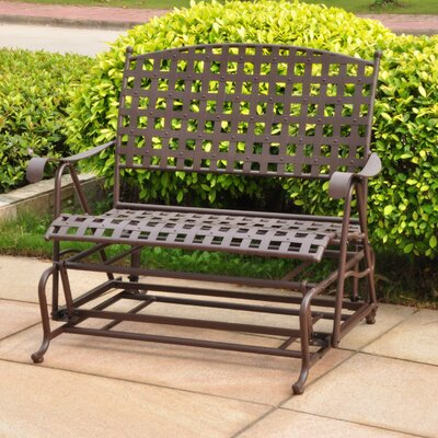 International Caravan Santa Fe Wrought Iron Outdoor Patio Rocker ...