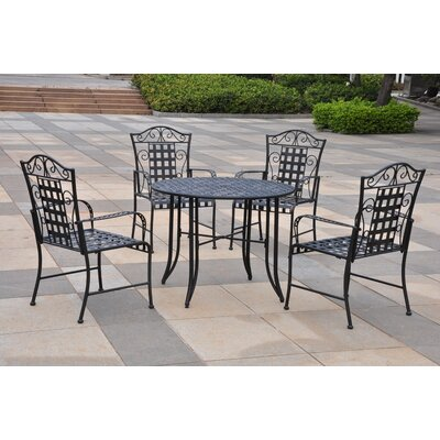 International Caravan Iron Patio 5 Piece Dining Set at Sears.com