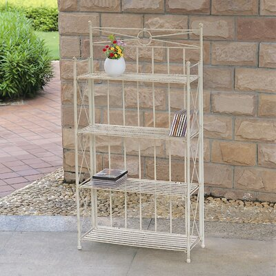 "Artica 4-Tier Iron IndoorOutdoor Bakers Rack Size: 50"" H x 26"" W"