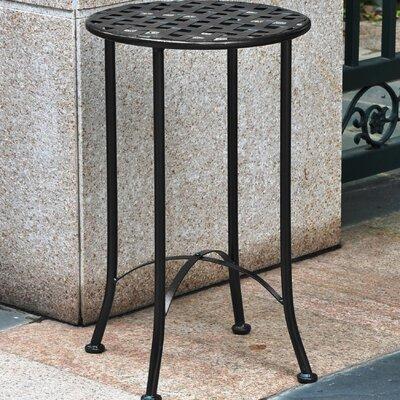 Mandalay 16-inch Iron Patio Side Table Finish: Black Antique