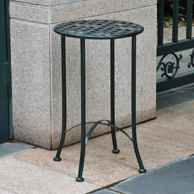 Mandalay 16-inch Iron Patio Side Table Finish: Verti Gris