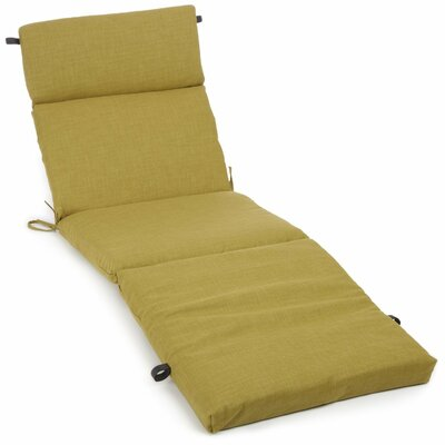 Blazing Needles All-Weather UV-Resistant Patio Chaise Lounge Cushion - Color: Tangerine Dream at Sears.com