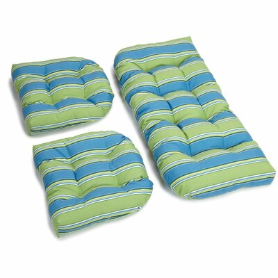 Haliwall Outdoor Loveseat Cushion Fabric: Caribbean