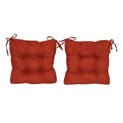 Blazing Needles Dining Chair Cushion (Set of 2) - Color: Berry Berry