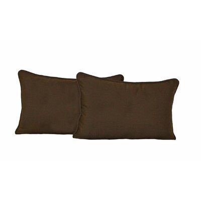 Blazing Needles Lumbar Pillow (Set of 2) - Color: Chocolate