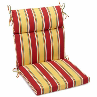 Haliwell Outdoor Adirondack Chair Cushion Fabric: Haliwell Multi, Size: 3.5 H x 22 W x 45 D