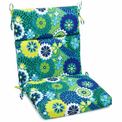 Luxury Outdoor Adirondack Chair Cushion Fabric: Luxury Azure, Size: 3.5 H x 22 W x 45 D