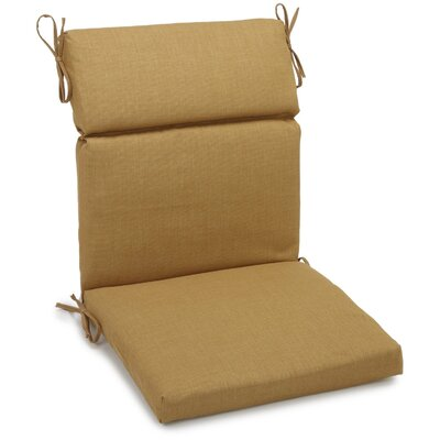 Blazing Needles Outdoor Adirondack Chair Cushion - Fabric: Wheat, Size: 3.5