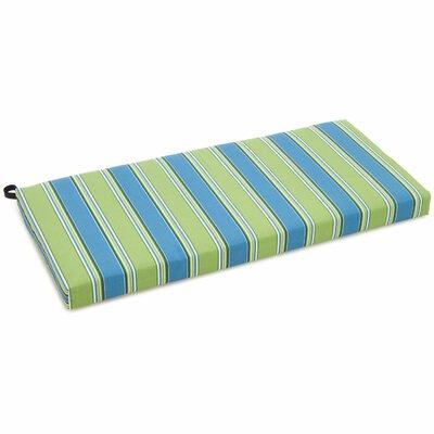 Blazing Needles Patio Bench / Swing Cushion - Color: Tangerine Dream