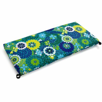 Luxury Outdoor Bench Cushion Fabric: Luxury Azure, Size: 3.5 H x 54 W x 19 D