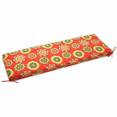 Farmington Outdoor Bench Cushion Fabric: Farmington Terrace Grenadine, Size: 3.5 H x 63 W x 19 D