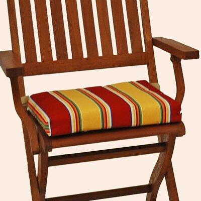 Blazing Needles Folding Chair Cushion (Set of 6) - Color: Farmington Terrace Grenadine at Sears.com
