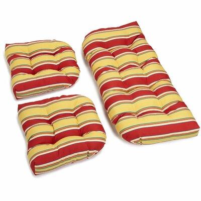 Haliwall Outdoor Loveseat Cushion Fabric: Multi