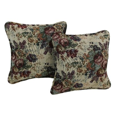Floral Tapestry Throw Pillow Pattern: Rose Bouquet