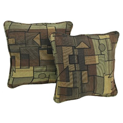 Contemporary Tapestry Throw Pillow Pattern: Hypotenuse