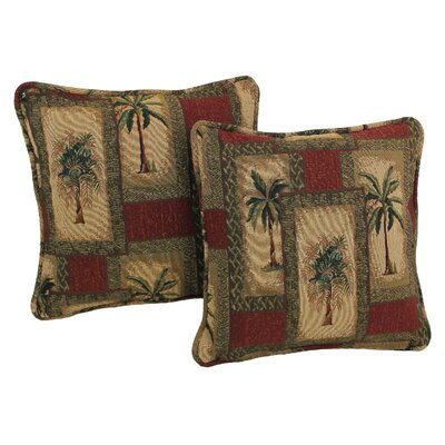 Exotic Tapestry Throw Pillow Pattern: Palm Springs