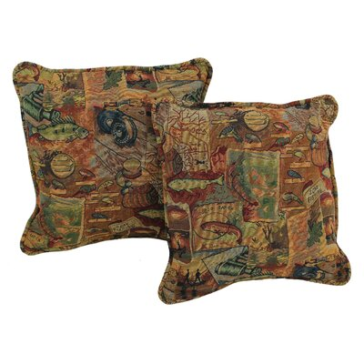 Western Tapestry Throw Pillow Pattern: Gone Fishing