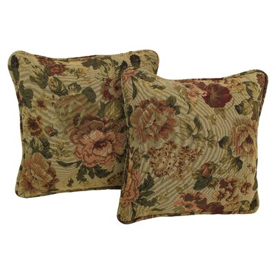 Floral Tapestry Throw Pillow Pattern: Hawthorne