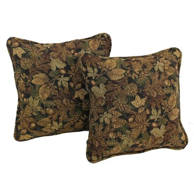 Floral Tapestry Throw Pillow Pattern: Autumn Harvest