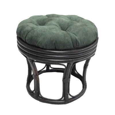Papasan Ottoman Cushion Fabric: Black