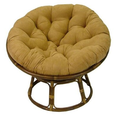 Papasan Lounge Chair Cushion Size: 48 W x 48 D, Fabric: Camel