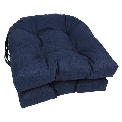 Outdoor Lounge Chair Cushion Fabric: Azul