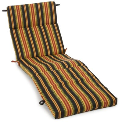 Outdoor Chaise Lounge Cushion Fabric: Lyndhurst Raven