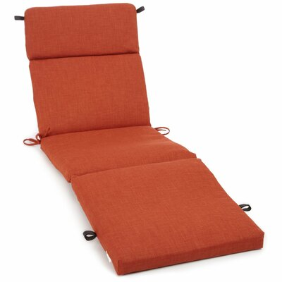 Outdoor Patio Chaise Lounge Cushion Color: Cinnamon, Size: 74