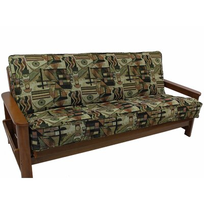 Tapestry Box Cushion Futon Slipcover Set Upholstery: Picasso