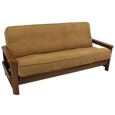 Premium Camel Box Cushion Futon Slipcover Size: 8