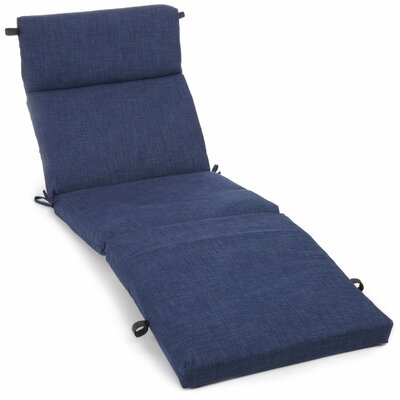 Outdoor Chaise Lounge Cushion Fabric: Azul
